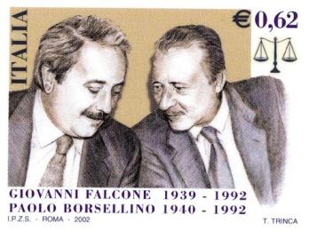Borsellino e Falcone - francobollo