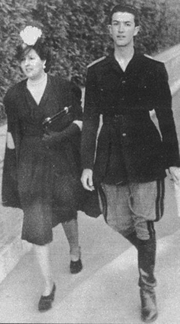 Eugenio Scalfari giovane fascista