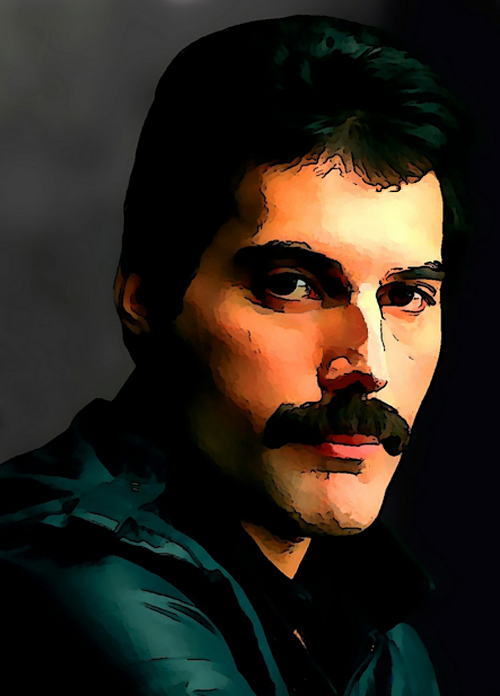 Freddie Mercury disegno di Iannozzi Giuseppe