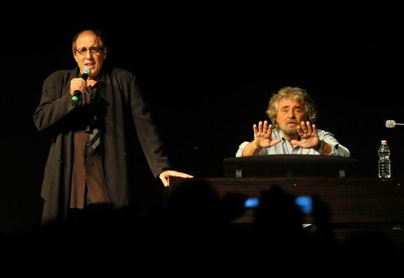 Beppe Grillo e Adriano Celentano