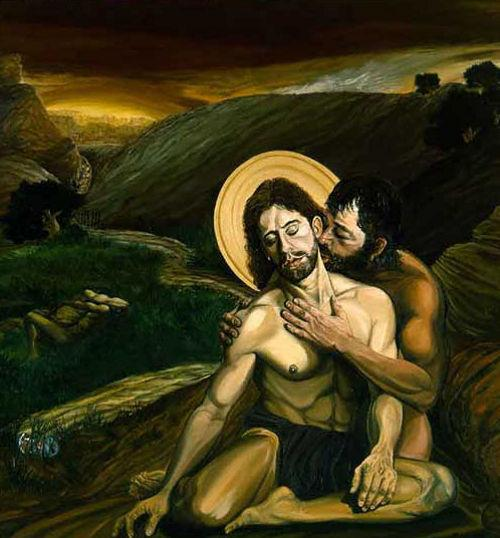 Giuda bacia Gesù