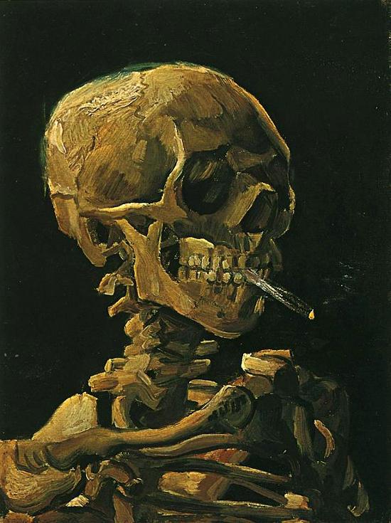 Van Gogh - teschio con sigaretta