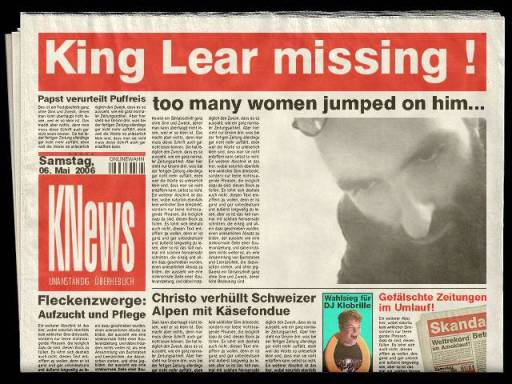 King Lear missing by Evrim