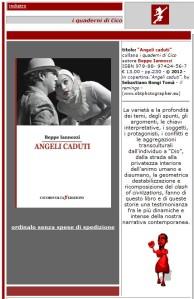Angeli caduti - Beppe Iannozzi - scheda editoriale - Cicorivolta edizioni