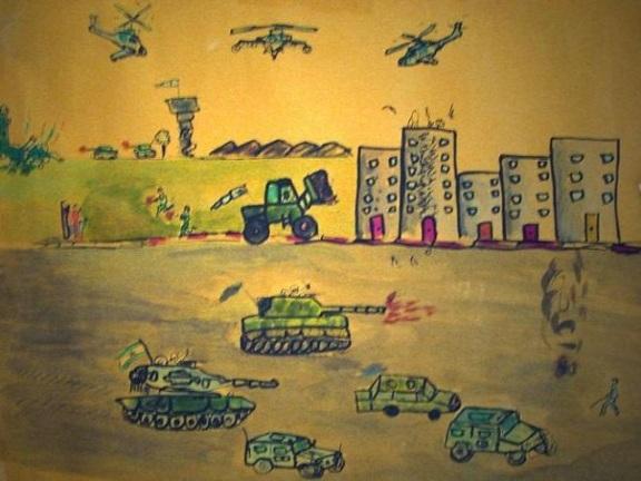 Damasco nei disegni di un bambino di sette anni - foto di Ninni Raimondi