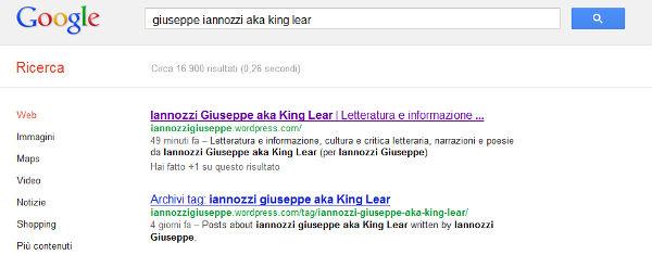 Giuseppe Iannozzi aka King Lear