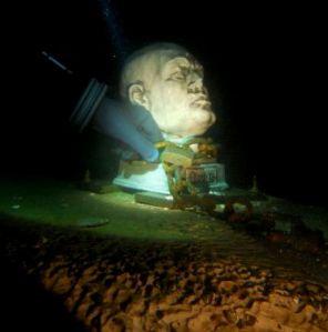 Mussolini busto lago Garda