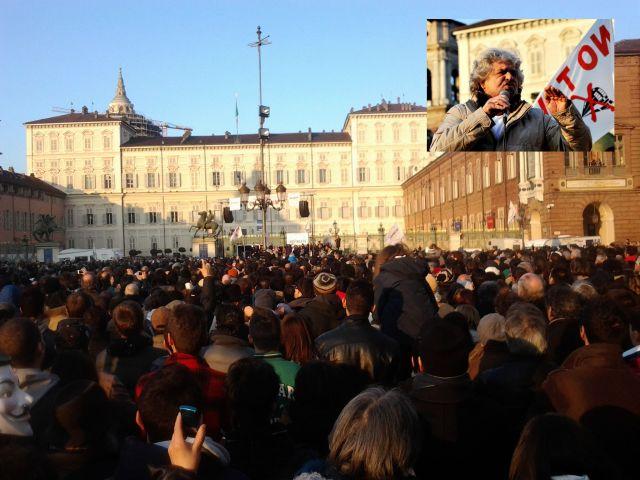 Tsunami tour - Beppe Grillo - Torino P.zza Castello, 16 febbraio 2013