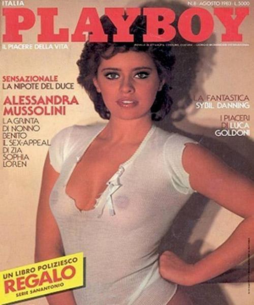 Alessandra Mussolini su Playboy - 1983