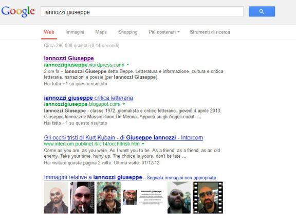 Iannozzi Giuseppe - 290.000 risultati su Google