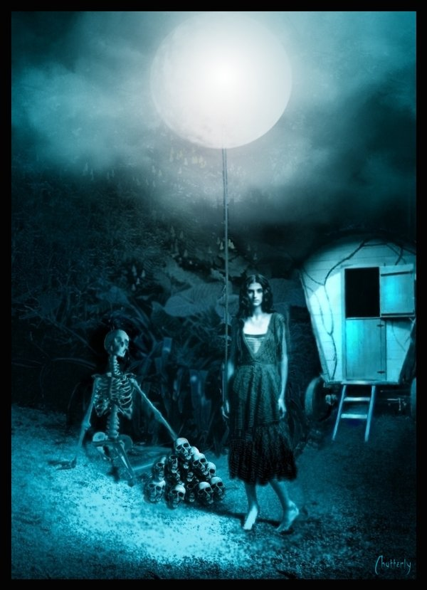 The gipsygirl holding the moon by Chatterly