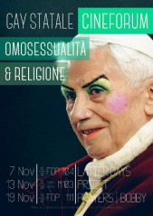 Gay Statale - Cineforum - Omosessualità e religione - locandina Ratzinger