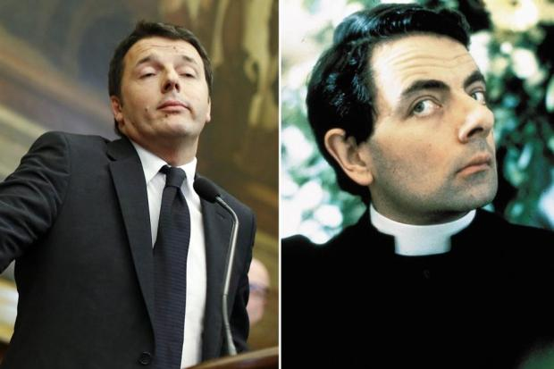 Matteo Renzi come Mr Bean