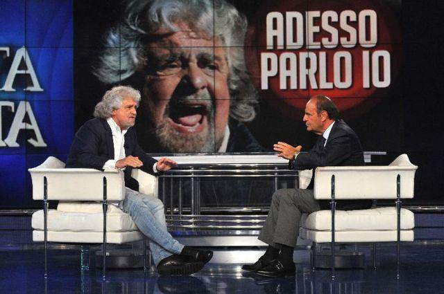 Beppe Grillo da Bruno Vespa