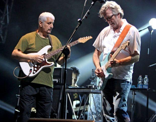 Pino Daniele and Eric Clapton