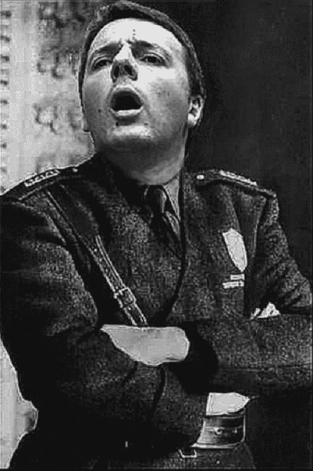 Matteo Renzi fascista rosso