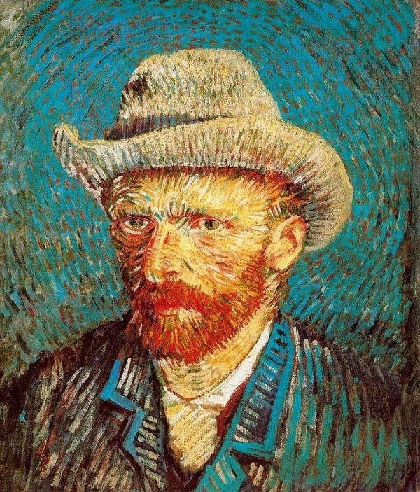 Vincent Van Gogh - autoritratto con cappello