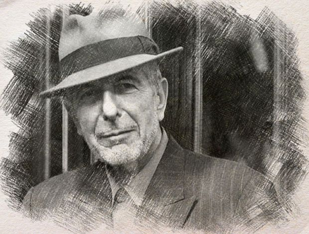 Leonard Cohen - digital art by Iannozzi Giuseppe