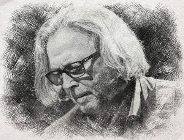 Eric Clapton - digital art by Iannozzi Giuseppe