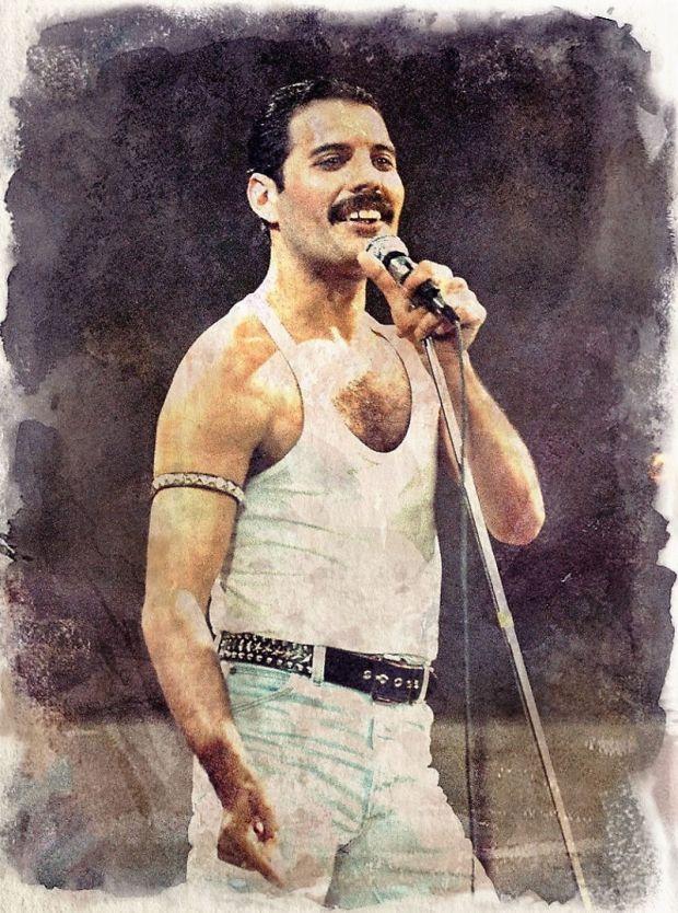 Freddie Mercury - dsegno digitale by Iannozzi Giuseppe