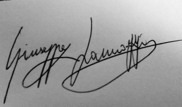Iannozzi Giuseppe - autografo
