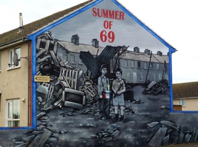 Belfast shankill summer of 69 mural