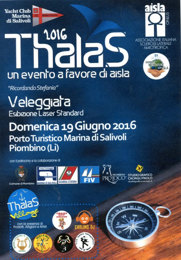 THALAS 2016 - UN EVENTO A FAVORE di AISLA, PORTO TURISTICO di SALIVOLI