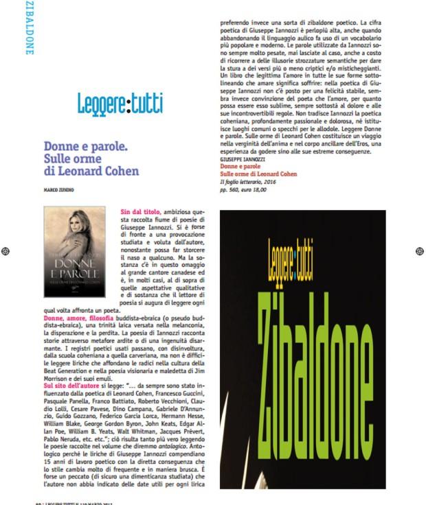 Donne e parole - Iannozzi Giuseppe - recensione Leggere:Tutti