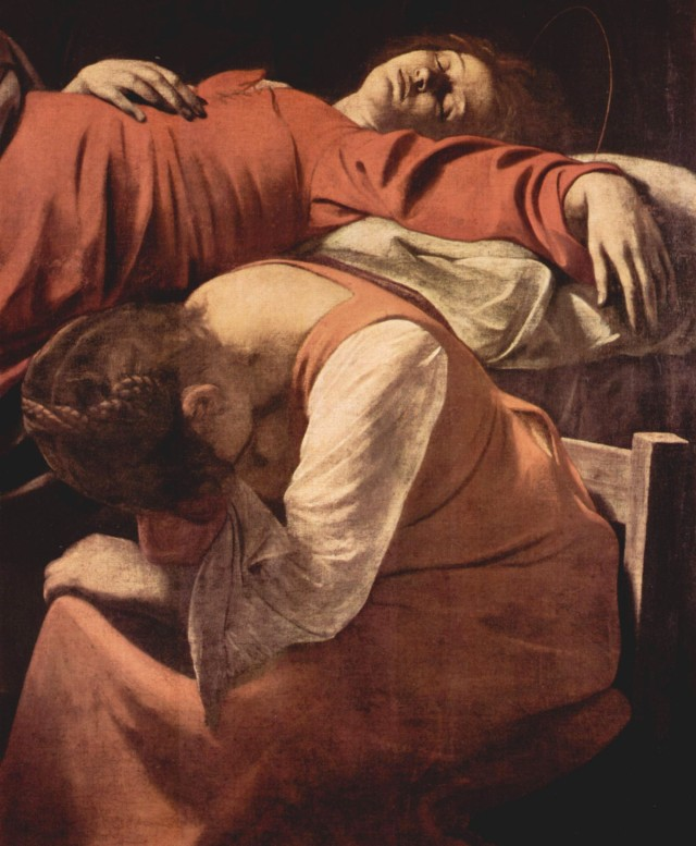 Caravaggio - Morte della Madonna (particolare)