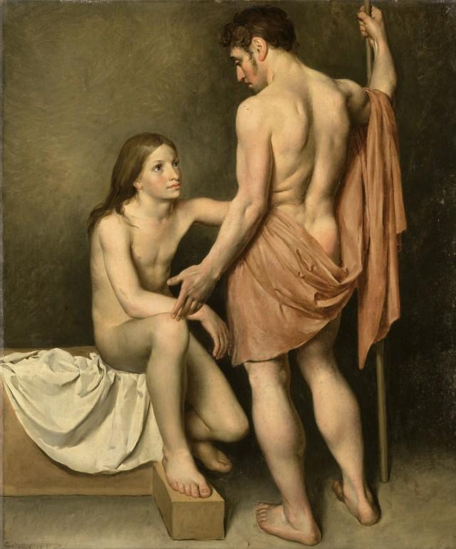 Woutherus Mol - Academiestudie van een man en een vrouw