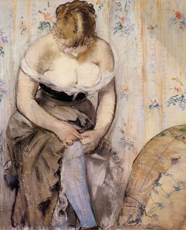 Édouard Manet - Woman Fastening Her Garter