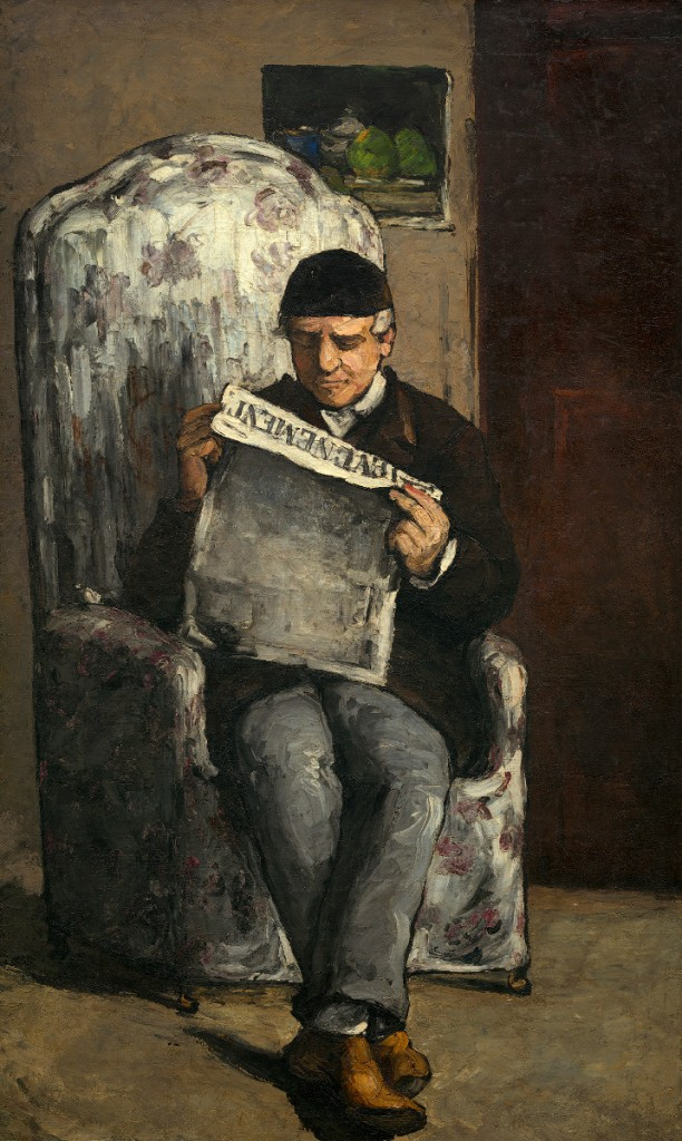 Paul Cezanne - The Artist's Father Reading 'L'Evenement' (1866)