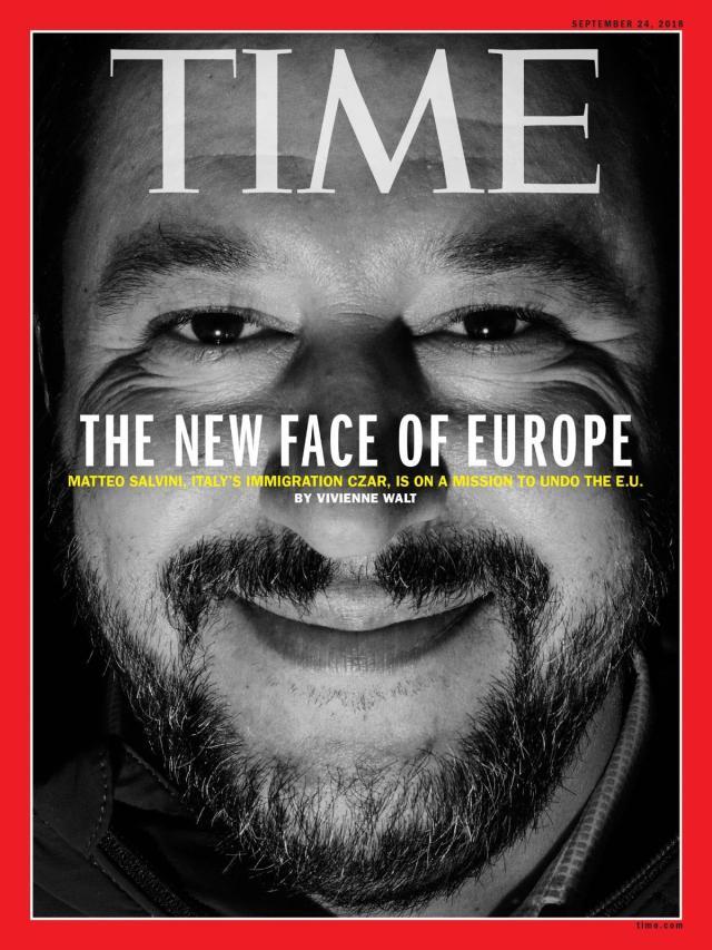 Matteo Salvini - copertina Time
