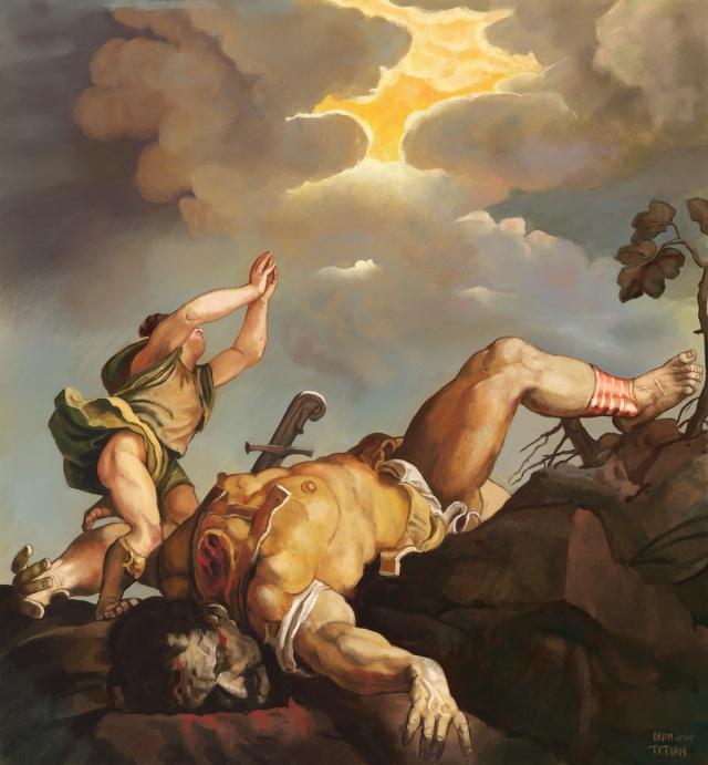 Tiziano Vecellio -Titian - David and Goliath
