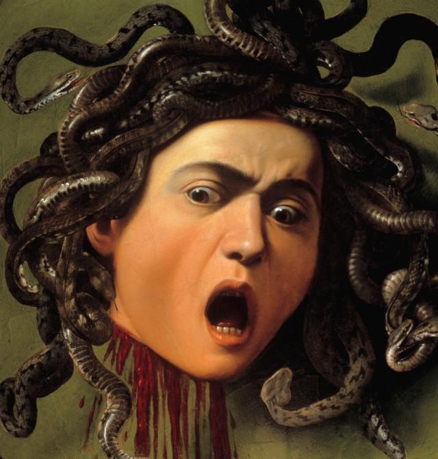 Caravaggio - testa di Medusa (particolare)