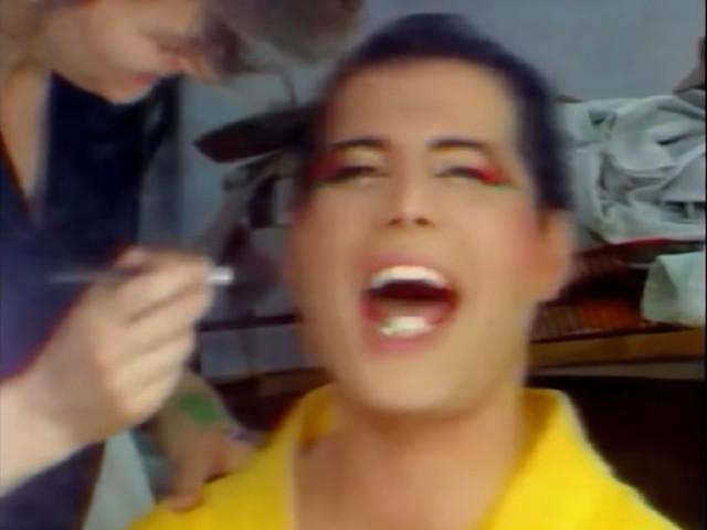 Freddie Mercury laughs