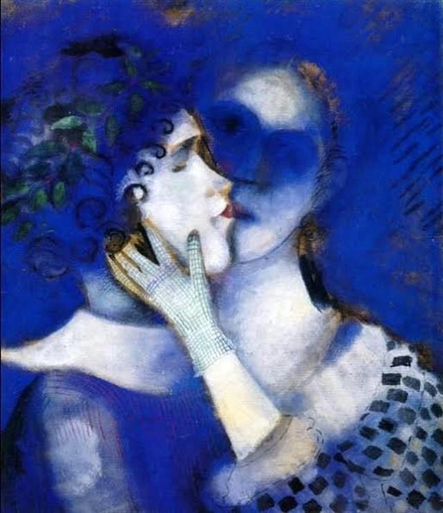 Marc Chagall - Amanti blu