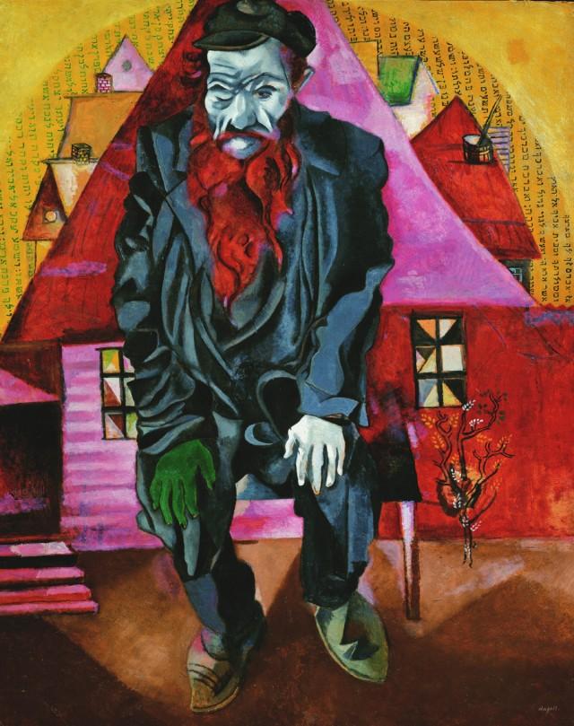 Ebreo in rosa - Marc Chagall