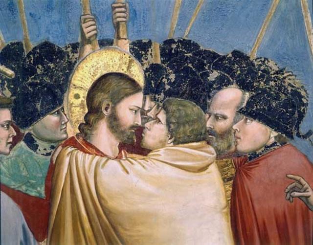 Giotto - bacio di Giuda (particolare)