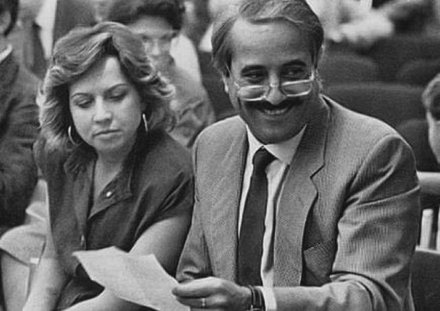 Giovanni Falcone con la moglie Francesca