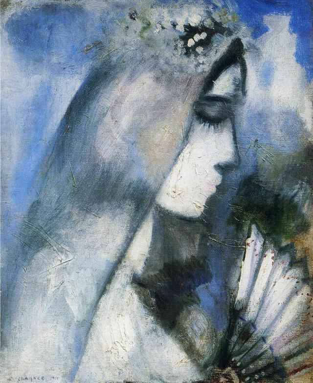Marc Chagall - Bride with Fan
