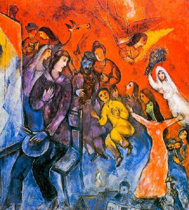 Chagall - Apparition de la famille de l'artiste