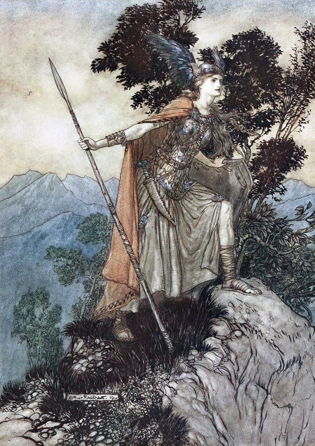 Brunilde - Arthur Rackham