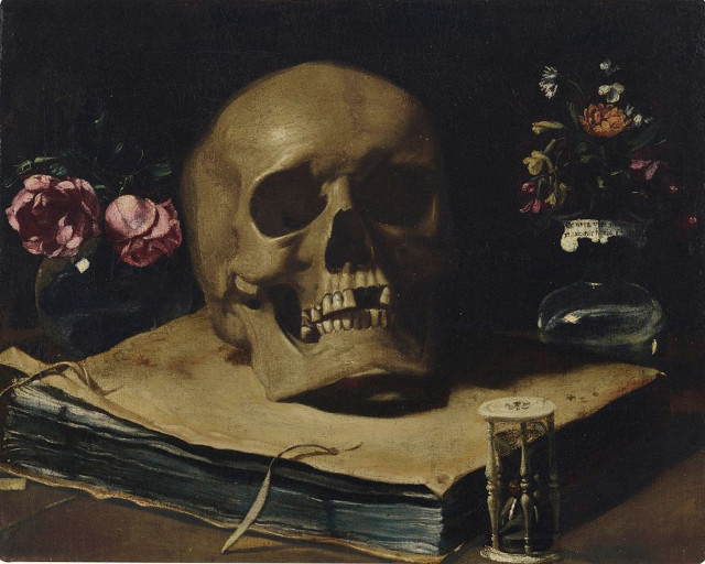 Vanitas Still Life -Giovanni Francesco Barbieri