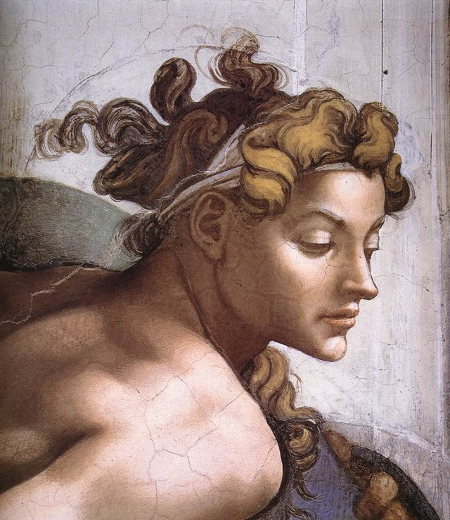 Michelangelo, Buonarroti - ignudo (particolare)