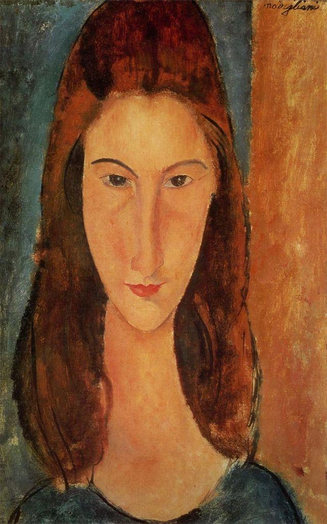 Modigliani - Ritratto frontale di Jeanne Hébuterne