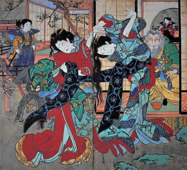 Tosa Scenes of Kabuki by Ekin, Ekin Museum, Konan, Kochi, Japan