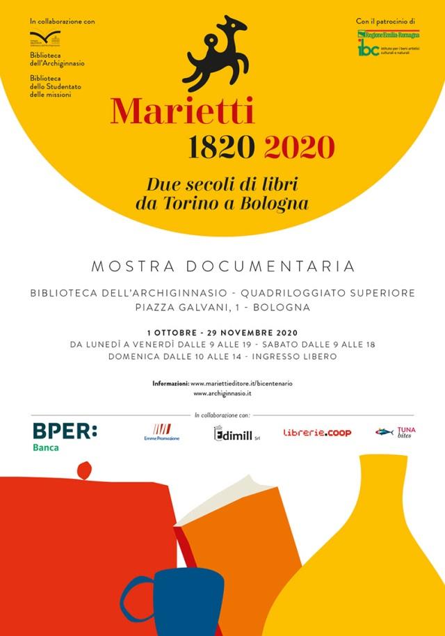 Marietti 1820 - 2020 - Mostra documentaria a Bologna 1 ottobre - 29 novembre 2020