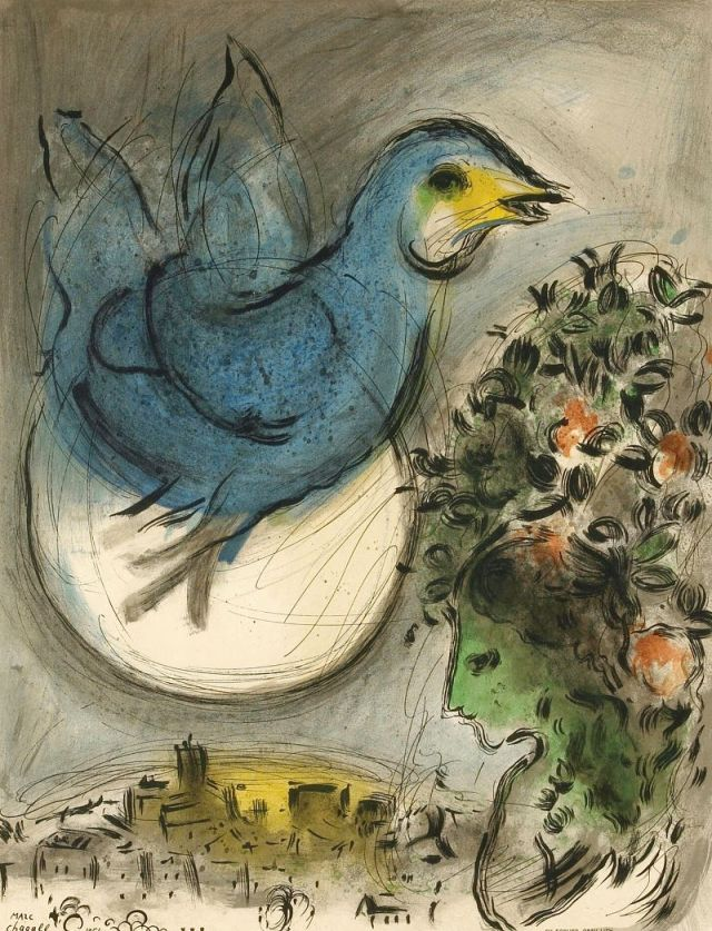 Marc Chagall - The blue bird