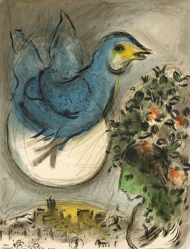 Marc Chagall - The blue bird